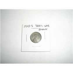 1943-S WAR Steel Lincoln Penny *PLEASE LOOK AT PICTURE TO DETERMINE GRADE - COIN OUT OF SAFE DEPOSIT