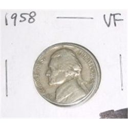 1958-P Jefferson Nickel *NICE VERY FINE GRADE*!!