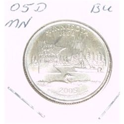 2005-D Washington STATE Quarter *MINNISOTA BU-BRILLIANT UNC HIGH GRADE* NICE COIN!!