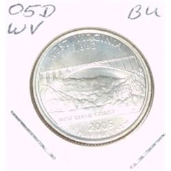 2005-D Washington STATE Quarter *WEST VIRGINIA BU-BRILLIANT UNC HIGH GRADE* NICE COIN!!