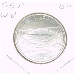 2005-P Washington STATE Quarter *WEST VIRGINIA BU-BRILLIANT UNC HIGH GRADE* NICE COIN!!