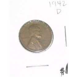 1942-D Lincoln Cent Penny *PLEASE LOOK AT PICTURE TO DETERMINE GRADE - NICE COIN*!!