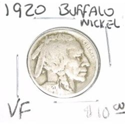 1920 Buffalo Nickel *VERY FINE GRADE - NICE COIN*!!