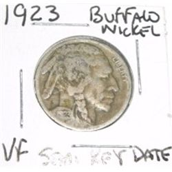 1923 Buffalo Nickel RARE SEMI KEY DATE *VERY FINE GRADE - NICE COIN*!!