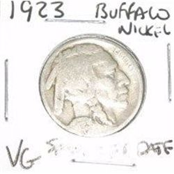 1923 Buffalo Nickel RARE SEMI KEY DATE *VERY GOOD GRADE - NICE COIN*!!