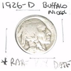 1926-D Buffalo Nickel EXTREMELY RARE KEY DATE *PLEASE LOOK AT PICTURE TO DETERMINE GRADE - NICE COIN