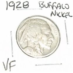 1928 Buffalo Nickel *VERY FINE GRADE - NICE COIN*!!