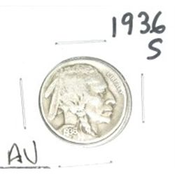 1936-S Buffalo Nickel *RARE AU HIGH GRADE - NICE COIN*!!