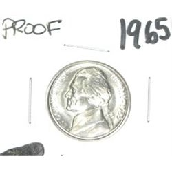 1965 Jefferson Nickel *RARE PROOF HIGH GRADE - NICE COIN*!!
