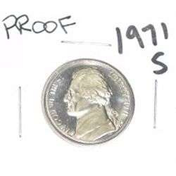 1971-S Jefferson Nickel *RARE PROOF HIGH GRADE - NICE COIN*!!