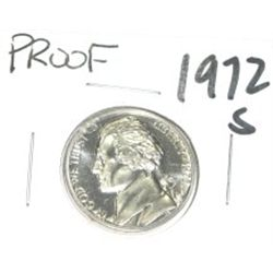 1972-S Jefferson Nickel *RARE PROOF HIGH GRADE - NICE COIN*!!