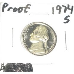 1974-S Jefferson Nickel *RARE PROOF HIGH GRADE - NICE COIN*!!