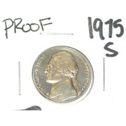 1975-S Jefferson Nickel *RARE PROOF HIGH GRADE - NICE COIN*!!