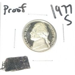 1977-S Jefferson Nickel *RARE PROOF HIGH GRADE - NICE COIN*!!