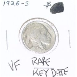1926-S Buffalo Nickel KEY DATE *EXTREMELY RARE VERY FINE GRADE - NICE COIN*!!