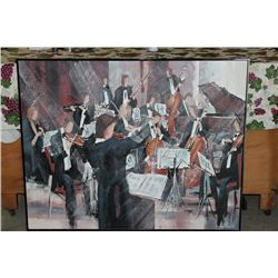 """OIL ON CANVAS BY MATTHEW ORANTE - 50"""" X 40"""" - CONDUCTOR - MINT"""