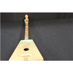 """UNFINISHED HANDMADE LITHUANIA 1- STRING INSTRUMENT BY ARTIST MATTHEW ORANTE 32"""""""