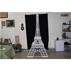 "HAND MADE OF WOOD IN 1955 BY ARTIST MATTHEW ORANTE - EIFFEL TOWER - BASE 41"" X 41"" X 87"" TALL"