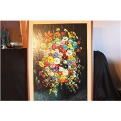 "36"" X 24"" PAINTING ON CANVAS BY MATTHEW ORANTE - 1982 - INSURED DISPLAY"
