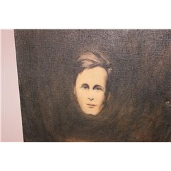"UNFRAMED OIL ON CANVAS OF MATTHEW ORANTE AS A YOUNG MAN BY NORTHROP - 1976 - 24"" X 24"""