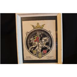 "INK DRAWING - LITHUANIA COAT OF ARMS - GRAND SEAL BY ARTIST MATTHEW ORANTE - 1975 - 18.5"" X 15"""