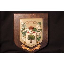 "LITHUANIA SHIELD 10"" X 12"" - PLAQUE MADE IN BRITAIN - SHIELD PAINTED BY MATTHEW ORANTE"