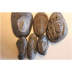LAST SIX MINIATURES CARVED STONE BY MATTHEW