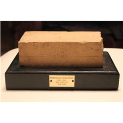 BRICK FROM METROPOLITAN OPERA HOUSE - NEW YORK CITY - 1883 - 1967 - DISMANTLED IN 1967 ESTATE OF MAT