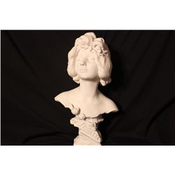 METAL BUST PROBABLY BRONZE JEUNESSI - BY J. CAVOSE - 16""