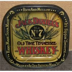Jack Daniel,s *OLD NO. 7 BRAND WHISKEY* Collectible Tin Tray - Tray Measures 3 3/4  X 3 3/4 !!