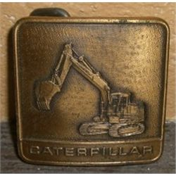 Brass Belt Buckle *CATERPILLAR* -Great Condition!!