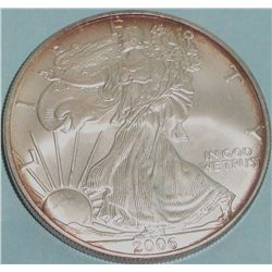 2006 .999 PURE SILVER ONE TROY OZ ROUND AMERICAN EAGLE