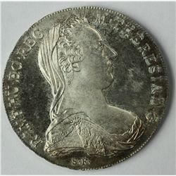 1780 M. THERESIA SILVER THALER COIN UNCIRCULATED