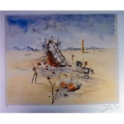Salvadore Dali  Cosmic Horseman  Ltd Edition Lithograph, 33 x23