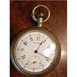 Antique Long Brander Pocket Watch, Not Running