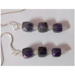 Natural 18.85ct Sapphire Earring .925 Sterling