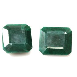Natural 267.5ctw African Emerald Emerald Cut (2) Stone