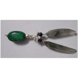Natural 20.55ct Emerald/Semi Precious Pendant .925 Ster