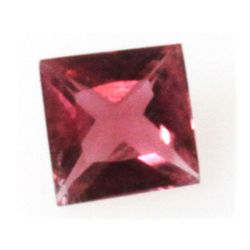 Natural 1.38ctw Pink Tourmaline Checkerboard Stone