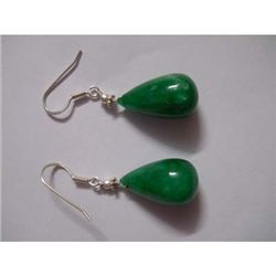 55.0 ctw Emerald .925 Sterling Silver Earring