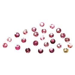 Natural 3.66ctw Pink Tourmaline Round Cut 3-4mm (25)