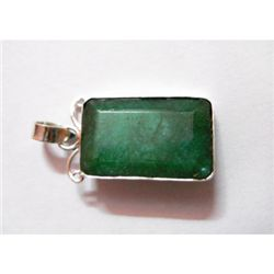 Natural 32.75 ctw Emerald Pendant .925 Sterling