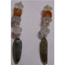 Natural 27.15ct Semi Precious Earring .925 Sterling