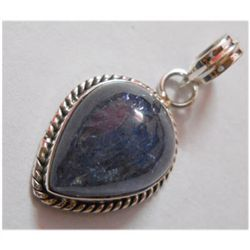 Natural 27.25 ctw Tanzanite Pendant 925 Sterling