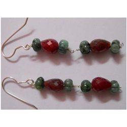 Natural 31.75 ctw Semi Precious Earring .925 Sterling