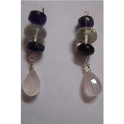 Natural 32.00ct Semi Precious Earring .925 Sterling