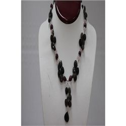 Natural 282.85ct Ruby,Semi Precious Necklace .925 Sterl