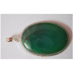 Natural 92.70 ctw Green Onex Pendant .925 Sterling