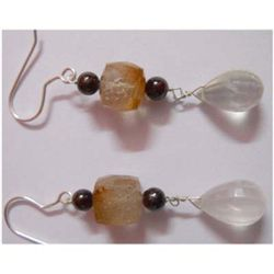 Natural 35.55 ctw Semi Precious Earring .925 Sterling