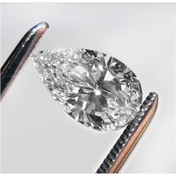 Diamond GIA Certified Pear 0.77 ctw H,SI1